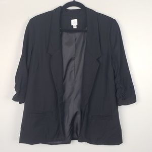 LC Lauren Conrad Blazer with 3/4 Rouched Sleeves